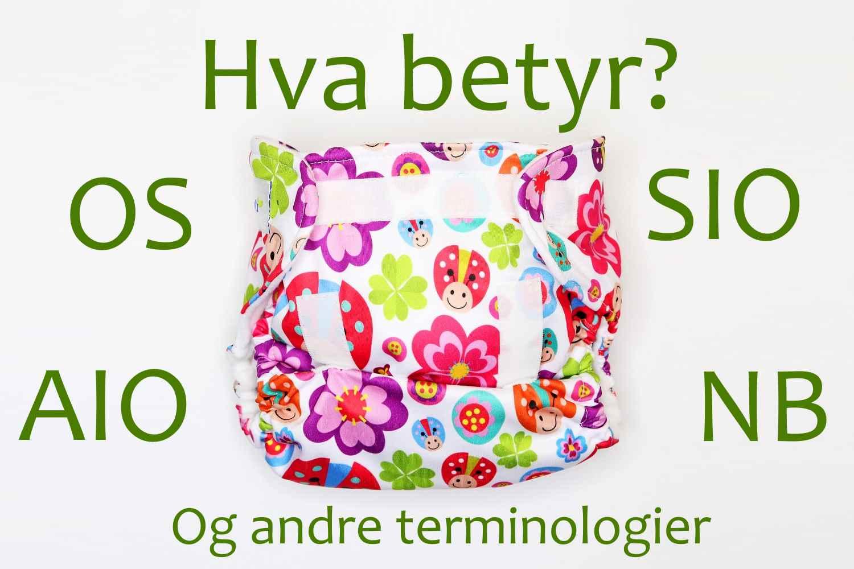 terminologi i Hva betyr alle forkortelser og terminologier i Tøybleier bransjen?