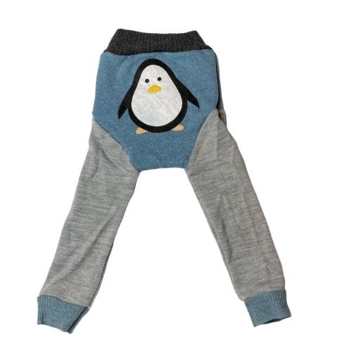 Pingvin - Ullbuksa longs + bomullpose bak