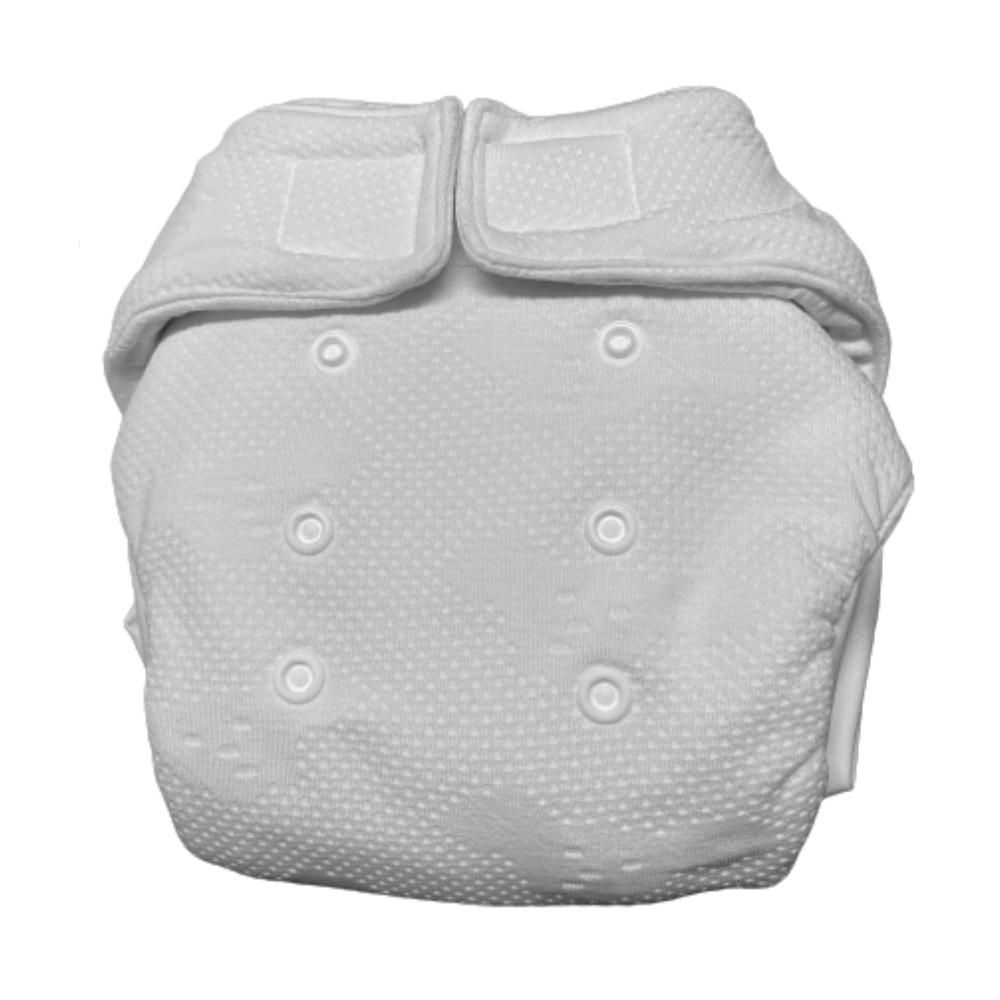 Formsydd nattbleie OS, borrelås, bomull, Mommy Mouse, 6-16kg front
