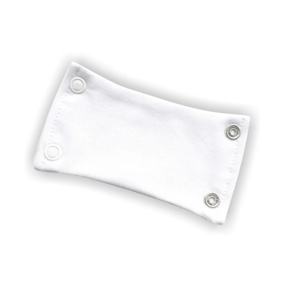 bodyforelenger 2 knapper hvit