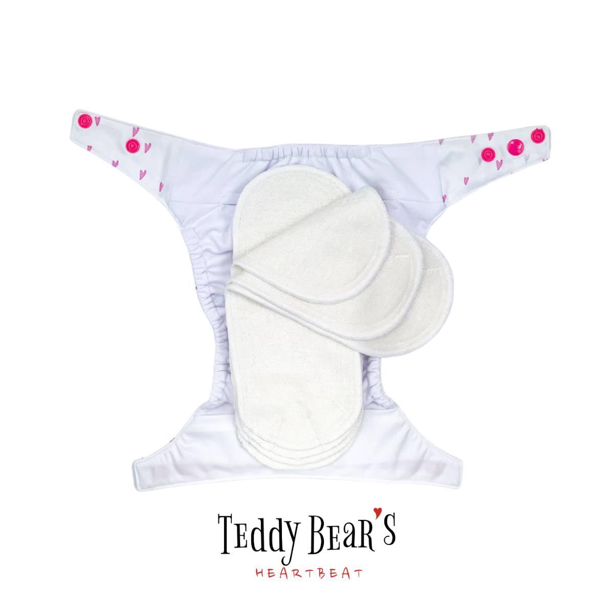 ariel-ergonomisk-toybleie-innlegg-booster-teddy-bears-heartbeat